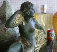 Demetre Haralamb Chiparus Wheat Art Deco Nude - 1162895