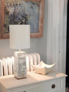 Designer Table Lamp Bronze and Gypsum - 1547939
