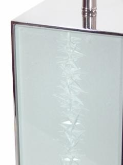 Designer Table Lamp Etched Glass - 1547808