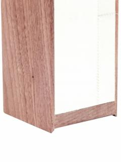Designer Table Lamp Wood and Parchment - 1547999