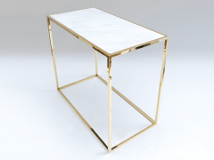 Desigual Brass and Marble Table - 972272