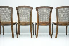 Deutsche WK M bel Set of 6 Elegant Chairs in Mahogany and Cane WK Germany 1970s - 1849433