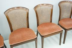 Deutsche WK M bel Set of 6 Elegant Chairs in Mahogany and Cane WK Germany 1970s - 1849435