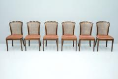 Deutsche WK M bel Set of 6 Elegant Chairs in Mahogany and Cane WK Germany 1970s - 1849437