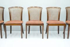 Deutsche WK M bel Set of 6 Elegant Chairs in Mahogany and Cane WK Germany 1970s - 1849438