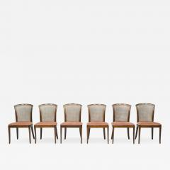 Deutsche WK M bel Set of 6 Elegant Chairs in Mahogany and Cane WK Germany 1970s - 1849687