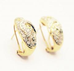 Diamond Earrings 14KT Yellow Gold Earrings - 1674598