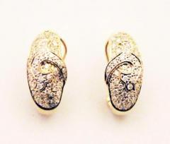 Diamond Earrings 14KT Yellow Gold Earrings - 1674599