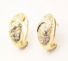 Diamond Earrings 14KT Yellow Gold Earrings - 1674601