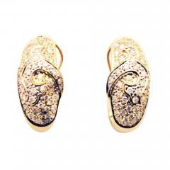 Diamond Earrings 14KT Yellow Gold Earrings - 1676525