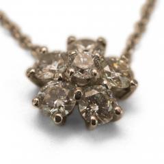 Diamond Flower Necklace - 52948