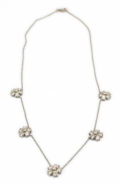 Diamond Flower Necklace - 52951