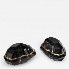 Diamond Form Smoky Rock Crystal Sconces by Phoenix - 2038587