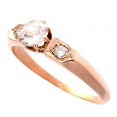 Diamond Gold Engagement Ring - 417939