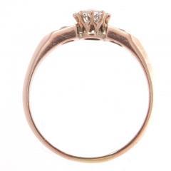 Diamond Gold Engagement Ring - 417940