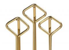 Diamond Handle Brass Fireplace Tool Set - 775686