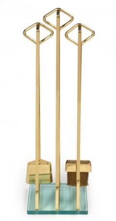 Diamond Handle Brass Fireplace Tool Set - 775687
