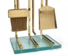 Diamond Handle Brass Fireplace Tool Set - 775688