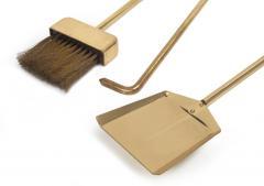 Diamond Handle Brass Fireplace Tool Set - 775689