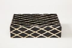 Diamond Pattern Horn Bone Box - 1860311