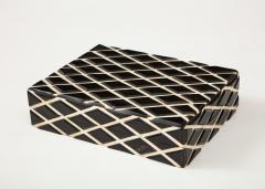 Diamond Pattern Horn Bone Box - 1860312