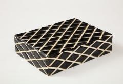 Diamond Pattern Horn Bone Box - 1860314