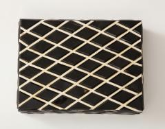 Diamond Pattern Horn Bone Box - 1860315