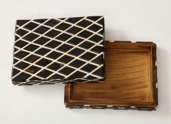 Diamond Pattern Horn Bone Box - 1860316
