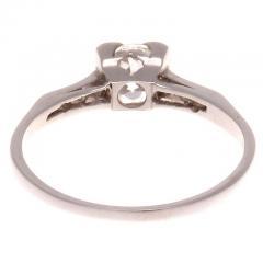 Diamond Platinum Engagement Ring - 417979