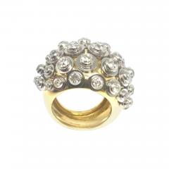 Diamond Platinum Gold Sputnik Ring - 432589