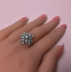 Diamond and Gold cluster Ring 1960s - 1124534