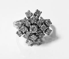 Diamond and Gold cluster Ring 1960s - 1124537