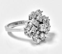 Diamond and Gold cluster Ring 1960s - 1124538