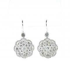 Diamond and Platinum Earrings - 1201260