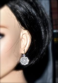 Diamond and Platinum Earrings - 1201263