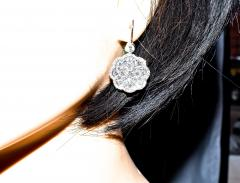 Diamond and Platinum Earrings - 1201265