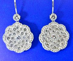 Diamond and Platinum Earrings - 1201266