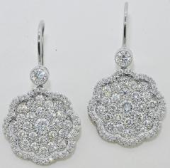 Diamond and Platinum Earrings - 1201267