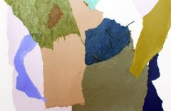 Diane Love Spring Rain 2021 Large Abstract Collage on Paper By Diane Love - 1963266