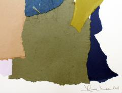Diane Love Spring Rain 2021 Large Abstract Collage on Paper By Diane Love - 1963267