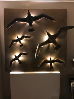 Didone Italy Design Wall lamp Applique Bronze Seagulls by Didone Italian Artist 2018 - 1345765