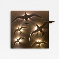 Didone Italy Design Wall lamp Applique Bronze Seagulls by Didone Italian Artist 2018 - 1346982