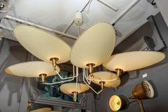 Diego Mardegan Brass and Parchment Paper Chandelier by Diego Mardegan for Glustin Luminaires - 894230