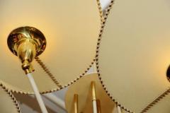 Diego Mardegan Brass and Parchment Paper Chandelier by Diego Mardegan for Glustin Luminaires - 894231