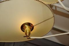 Diego Mardegan Brass and Parchment Paper Chandelier by Diego Mardegan for Glustin Luminaires - 894233