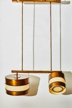 Diego Mardegan Chandelier in Brass and Parchment by Diego Mardegan for Glustin Luminaires - 1114475