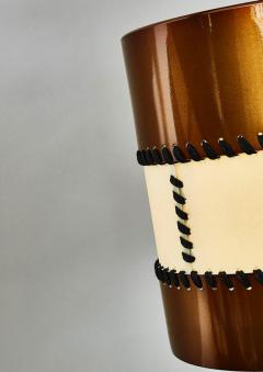 Diego Mardegan Chandelier in Brass and Parchment by Diego Mardegan for Glustin Luminaires - 1114480