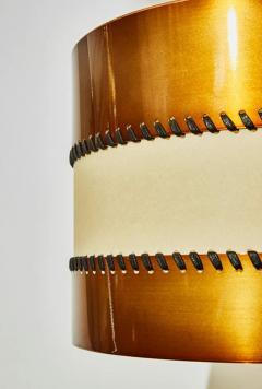 Diego Mardegan Chandelier in Brass and Parchment by Diego Mardegan for Glustin Luminaires - 1114481