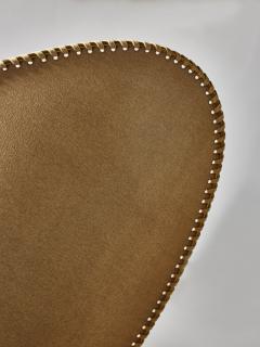 Diego Mardegan Oval Brass and Parchment Chandelier by Diego Mardegan for Glustin Luminaires - 1663876
