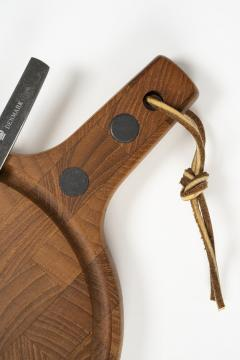 Digsmed cutting board with knife teak 70s - 1837859